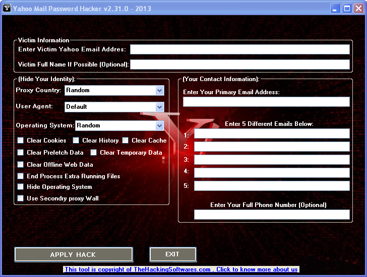 Yahoo mail password hacker v2310 2013 hack yahoo account yahoo mail password hacker v2310 2013 hack yahoo account download without survey home of underground and professional hackers ccuart Gallery